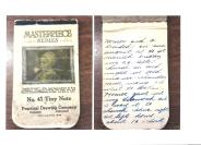 Mother's wedding notebook